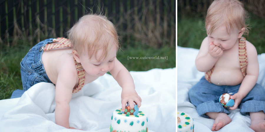Photographie bébé anniversaire Smash the cake