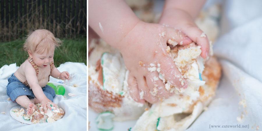 Photographie enfant anniversaire Smash the cake