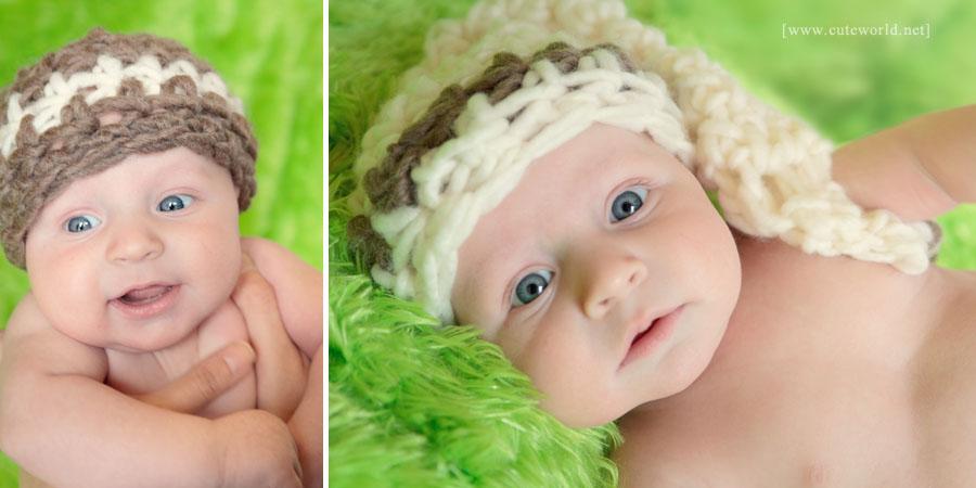 Photographie bébé à domicile avec accessoires
