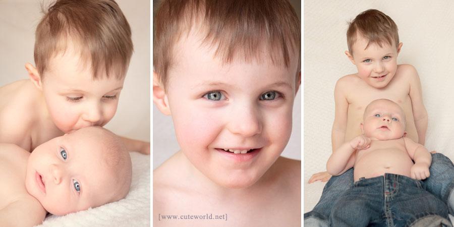 Photographie à domicile de deux petits frères