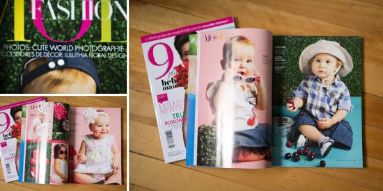 Cute World Photographie dans magazine 9 plus bebe mama