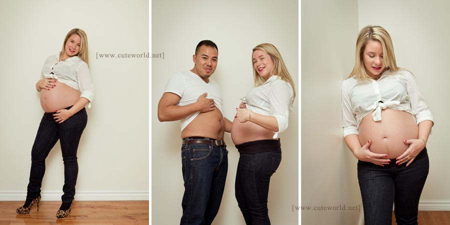 Séance photo à domicile couple grossesse