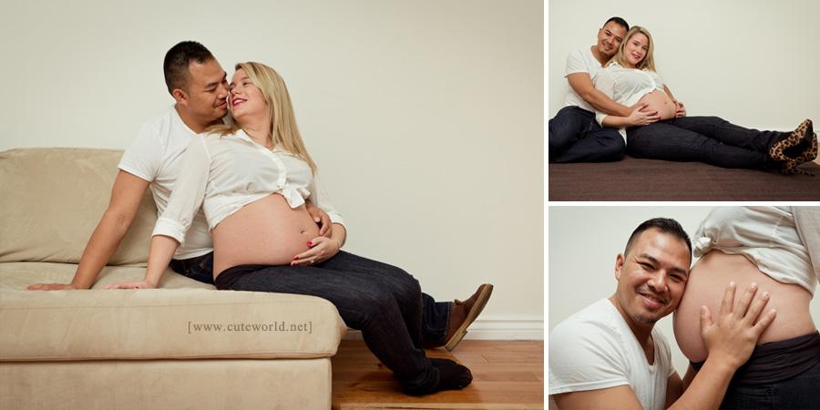 Séance photo à domicile femme enceinte