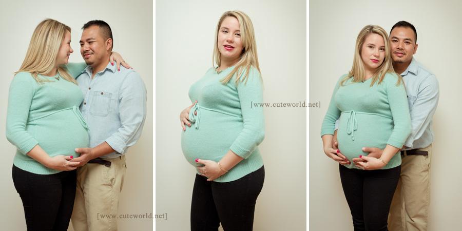 Photographie maternité couple à domicile