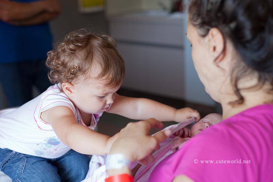 photographe naissance bébé à l'hôpital