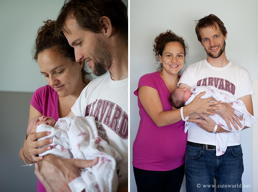 photographe naissance à l'hôpital