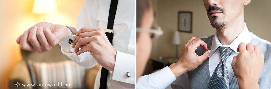 photographie mariage préparation marié
