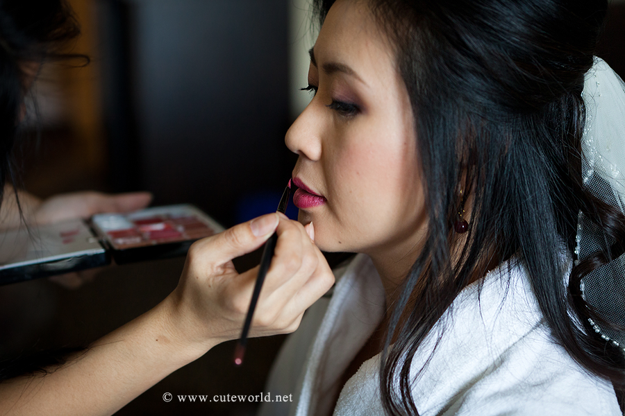 photographe maquillage mariée avant cérémonie