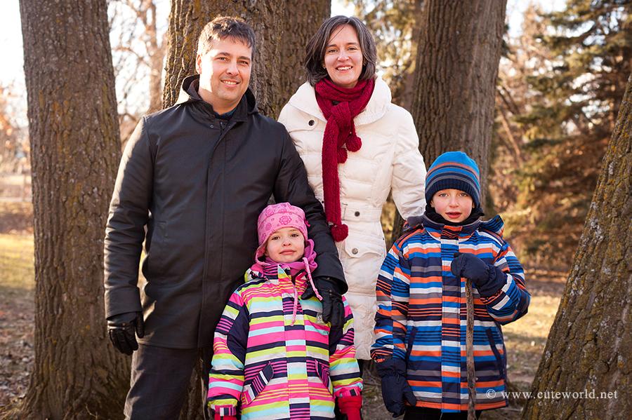 Séance famille extérieur dans un parc Montréal