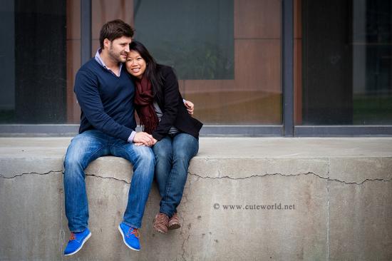 photographie couple urbain à Montréal