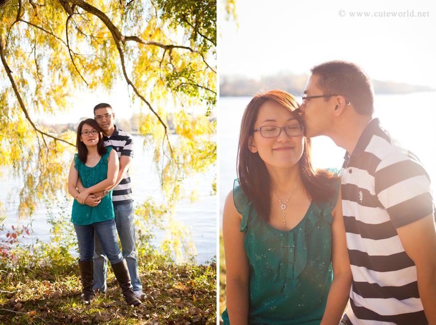 séance photo fiançailles en automne