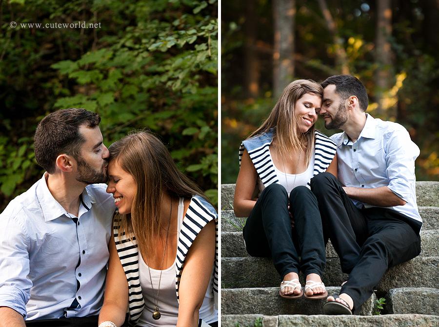 Séance photographie fiançailles couple à Montréal
