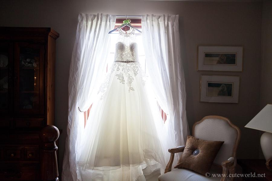 photographie mariage détail robe de la mariéee