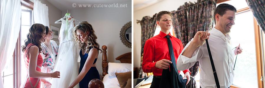 photographie préparation mariés