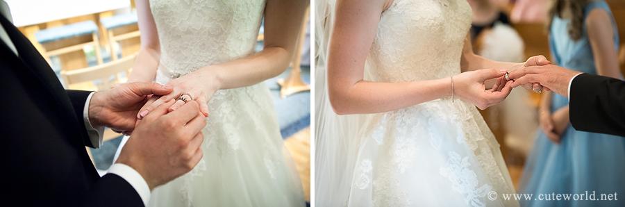 photographe mariage échange alliances