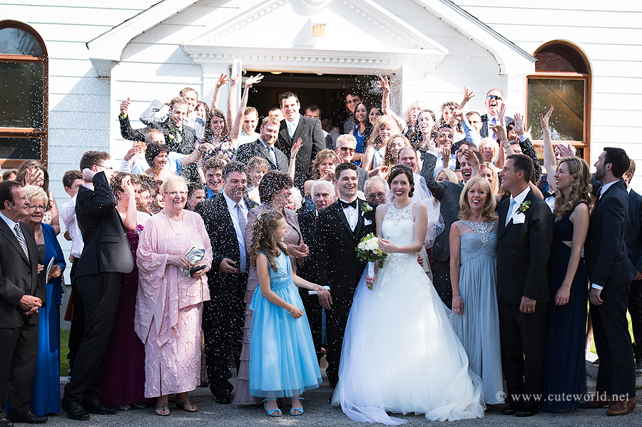 photographe mariage église invités