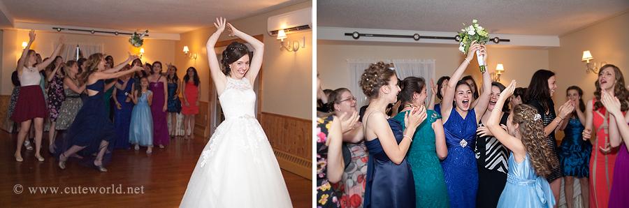 photographe mariage lancer bouquet