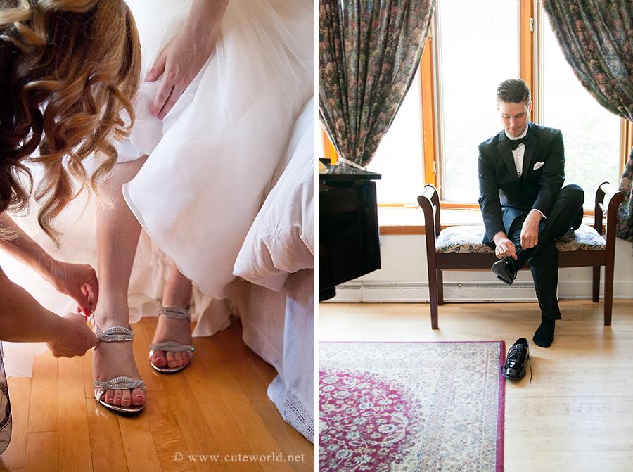 photographie préparation mariés souliers