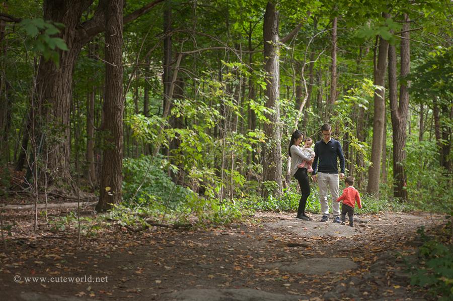 séance photo famille au mont royal montréal